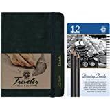 C2F Pentalic 12-Degree Drawing Pencil Tin and Traveler Pocket Journal Value Pack