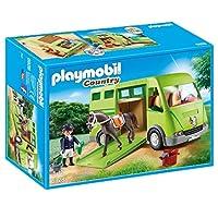 Playmobil 摩比世界 马运输车组建套装