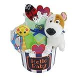 La cigogne ( 拉 シゴーニュ ) 宠物玩偶2段 Sassy 玩具带尿布蛋糕