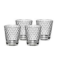 WMF 福腾宝 透明玻璃创意简约欧式菱纹玻璃杯水杯4件套