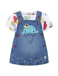 Tuc Tuc 女婴 Pichi Vaquero+Camiseta Punto Niña 可爱冰巾