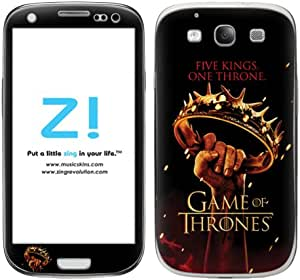 Zing Revolution Game of Thrones Premium Vinyl Adhesive Skin for Samsung Galaxy S 3, Five Kings Image, MS-GOT210415