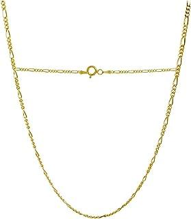 18 克拉纯黄金 2.0 毫米费加罗链 - 3+1 链 - 意大利制造 - 40.64cm-76.20cm 可选.