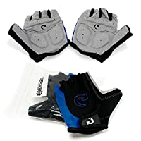 GEARONIC TM 自行车自行车摩托车防震泡沫衬垫户外运动半指短骑行手套工作手套