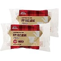 Kalita 咖啡过滤器(100 张纸)2 套适合 2-4 杯滴