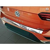 AUTOSTYLE 2/35212 不锈钢后保险杠保护器大众T-ROC 11/2017-'Sportline-标志',银色