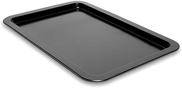 Cookie Sheet 托盘不粘烤盘由Topenca Supplies 制造的铝制成 黑色 18 x13-inches TS-31061-3