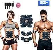 MOORAY 运动腹部刺激肌肉锻炼器可充电肌肉训练器终极腹部刺激器男士女士腹部锻炼广告力量健身腹肌训练装备,ABS 锻炼设备便携