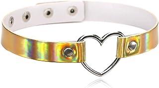 ETHOON 可调节皮革颈圈性感柔软 PU 猫朋克颈链项链 适合女性 女孩