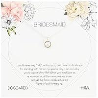 Dogeared 伴娘花卡 大圈珍珠吊坠链项链,40.64 厘米 + 5.08 厘米延长 银色 one_size