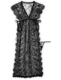 Leg Avenue 蕾丝长袍和丁字裤,黑色,S/M