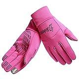 TOPTOTN 美丽女孩秋冬运动手套,防滑和防风屏手套