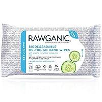Rawganic *即走即用濕巾 - 無酒精潔面可生物降解濕巾,無香型*棉 -(15 張濕巾/包)