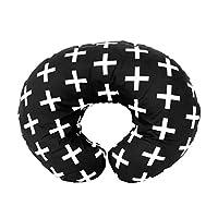 Mila Millie 优质哺乳枕套 - 北欧瑞士白色十字架中性款设计枕套 - * 棉低*性 - *喂养母亲的完美选择 - 婴儿送礼佳品
