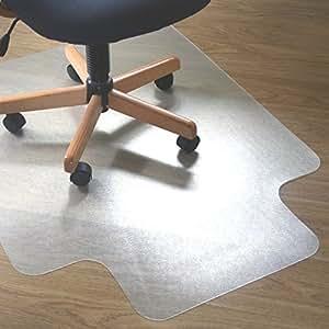 Lutema 透明 PVC 塑料椅垫 适用于地毯或木地板 91.44 厘米 x 121.92 厘米防滑塑料垫 - 家庭办公室地板保护塑料垫带嘴 - PVC 塑料垫 适用于办公椅 3 Pack Smooth Back 透明