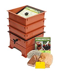 Worm Factory 3 托盘蠕虫堆肥玩具 3 Tray 3-Tray Terra Cotta