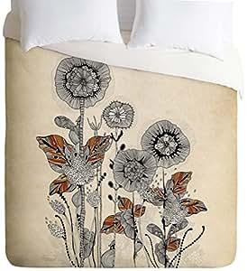 DENY Designs Iveta Abolina Floral 3 Duvet Cover, Queen
