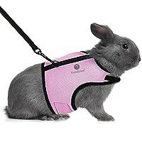 SunGrow 兔子*带和牵引带,6.4-8 英寸(颈围)8-12.8 英寸(胸围)4.9 英寸(胸围)透气网尼龙面料,可调节,带触摸扣