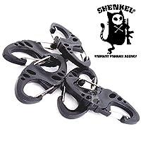 SHENKEL 战术卡拉维纳 双门 S字钩 钥匙扣 黑色 5个套装 ot-004bk-5