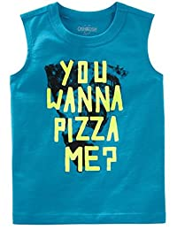 OshKosh B'Gosh Originals 男婴肌肉背心 You Wanna Pizza Me?