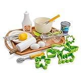Dantoy 绿色花园烘焙套装带托盘,25 片儿童假装游戏,丹麦制造