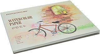 NEWSEE 12 张水彩素描本可用作旅行日志和混合媒体板(小)