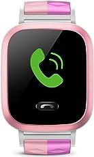 小天才电话手表Y01S 浅粉色 儿童智能手表360度安全防护 学生定位手机 儿童电话手表 儿童手机 女孩(亚马逊自营商品, 由供应商配送)