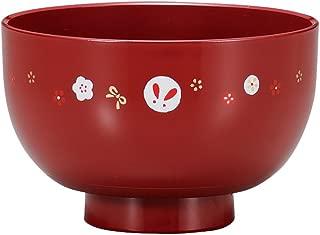 日本制造 HAKOYA Tatsumiya ONES-碗S- 汤碗 红珍珠兔子 55202