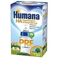 Humana HA PRE 初生奶粉 适合潜在过敏风险的婴儿,从出生开始,500克(2 x 250克/袋)