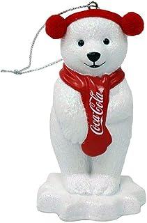 Kurt Adler 可口可乐北极熊带耳塞装饰