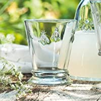La Rochere 6X5132 蜜蜂水杯,苏打石灰玻璃 270 毫升,透明