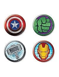 Ata-Boy Marvel 漫画复仇者联盟4 件套 3.18 厘米收藏纽扣