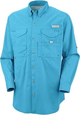 Columbia Bonehead Ls 衬衫 1X 蓝色 1011672-463-1X