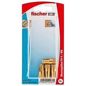 Fischer 52485 PA 4 M8/25 K Dowel - 多色(4 件)
