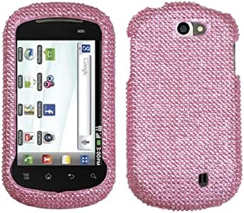 MyBat Diamante 2.0 Protector Cover for LG C729 (Doubleplay) - Retail Packaging - Pink