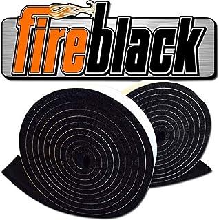 FireBlack 125 黑色 Nomex 自粘式替换大*鸡蛋垫片高温,带/LavaLock (tm) LG XL
