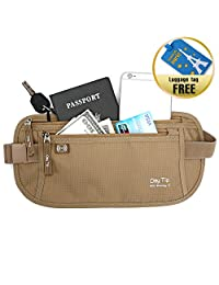 天尖金钱皮带–护照夹*隐藏旅行钱包与 RFID 屏蔽 undercover 腰包