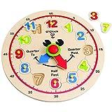 Hape - 快乐时钟系列 - 时间学习拼图玩具组合