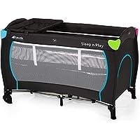 Hauck 600566 Sleep'n Play Center  带轮子,滑动,2层结构,换尿布架,60 x 120厘米,stone 黑色
