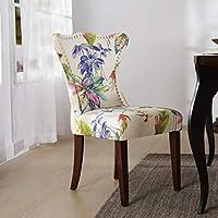 Jennifer Taylor Home Presley 软垫装饰椅子,米白色/花卉