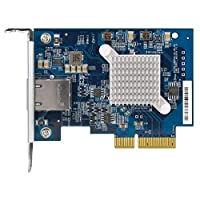 Qnap QXG-10G1T 單端口 (10Gbase-T) 10GbE 網絡擴展卡,PCIe Gen3 x4,預裝載低調平全高支架