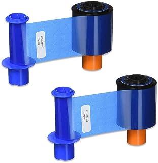 Fargo 45200 YMCKO 彩色丝带 适用于 DTC4500 和 DTC4500e 打印机 500 幅 - 2 包