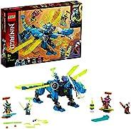 LEGO 71711 Ninjago Jay's Cyber Dragon Mech 积木套装,带有杰伊、纽约和 Unagami 公仔,Prime Empire