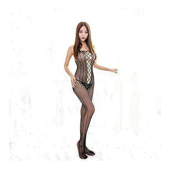 DailiSi开档全身袜连体情趣性感袜超薄均码网内衣旗袍性感吊带图片
