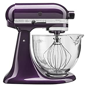 KitchenAid KSM155GBPB 5-Qt. Artisan Design Series with Glass Bowl - Plumberry需配变压器