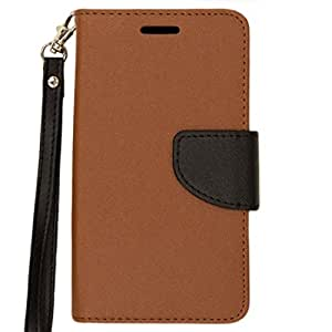 Zizo Cell Phone Case for Samsung Galaxy Grand Prime LTE G530 - Retail Packaging - Brown/Black