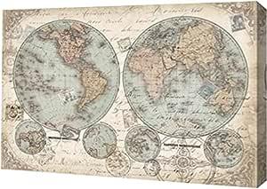 "PrintArt GW-POD-51-RB8171TS-30x20""World Hemispheres Landscape"" 画廊装裱艺术微喷油画艺术印刷品 30"" x 20"" GW-POD-51-RB8171TS-30x20"