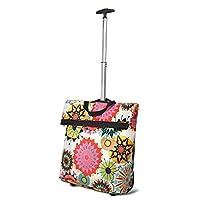 致丽生活 可折叠购物袋拖轮包买菜拉杆购物车旅行收纳袋便携行李包 太阳花