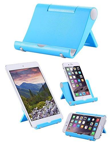 Whirldy 手机支架 桌面 懒人支架 kindle 支架 ipad支架 手机平板通用 多功能 创意折叠 时尚 (蓝色)