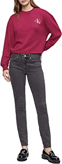 Calvin Klein 卡尔文·克莱恩 Jeans 女式 Monogram Logo 染色圆领运动衫